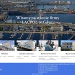 Strona internetowa dla firmy mleczarskiej Lacpol